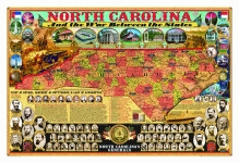 NORTH CAROLINA AND THE WAR BETWEEN THE STATES POSTER
